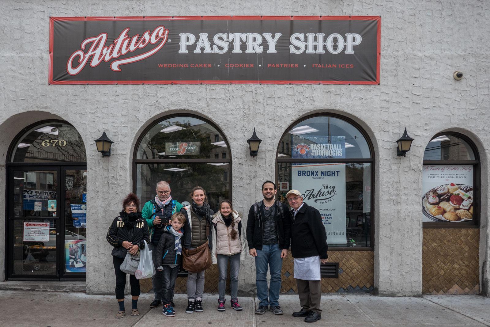 Bronx Historical Tours Artusos Pastry Shop