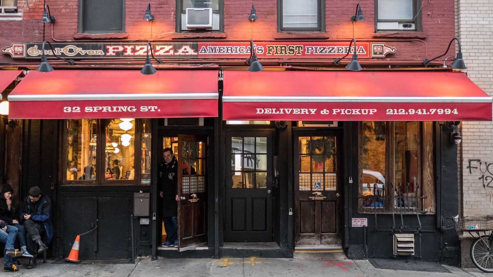 Lombardi's Pizzeria in Manhattan's Little Italy Along the 6 Train in New York City