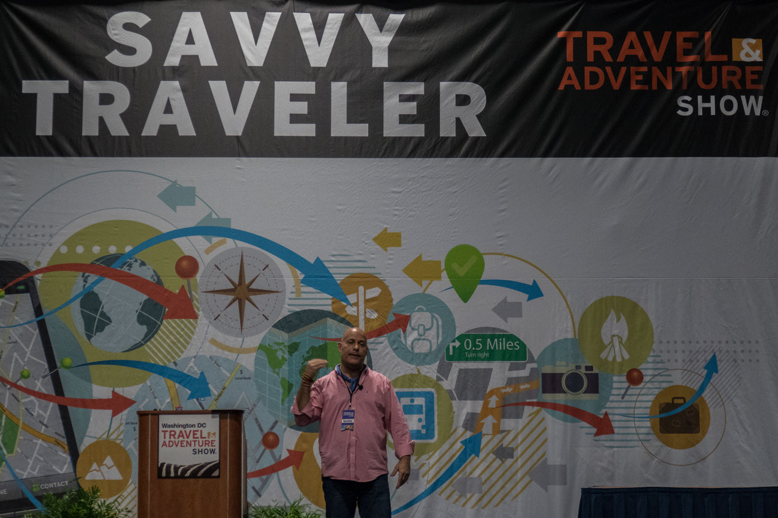 Ralph Velasco at Savvy Traveler Theater at Washington DC Travel and Adventure Show