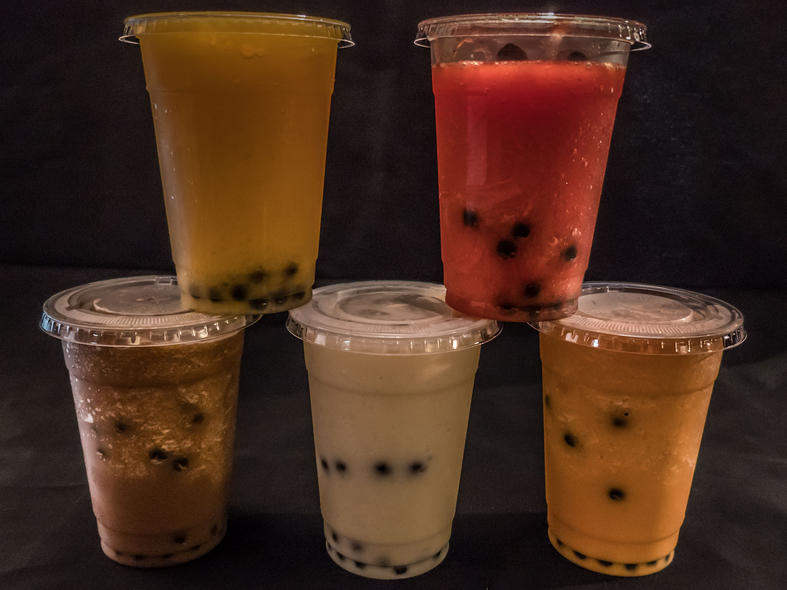 bubble tea smoothies at Carlisle Thai Cuisine thai iced tea coffee mango