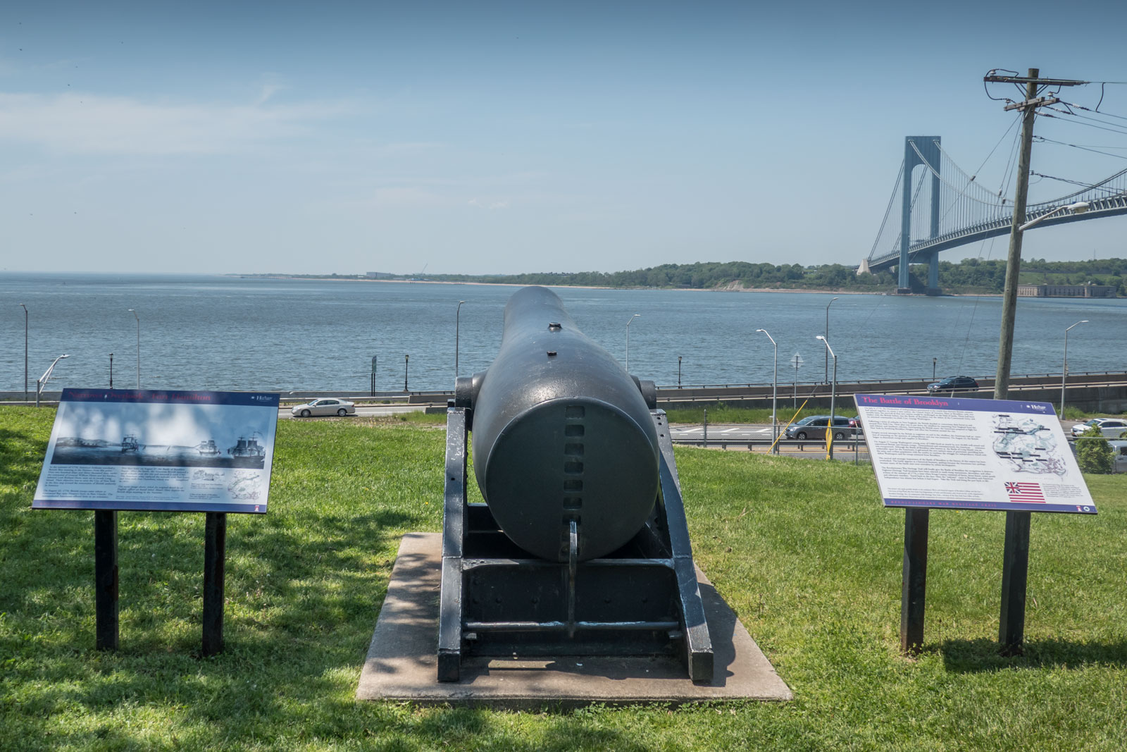 Cannon Verranzano Bridge and New York Harbor Defense Museum Fort Hamilton Brooklyn