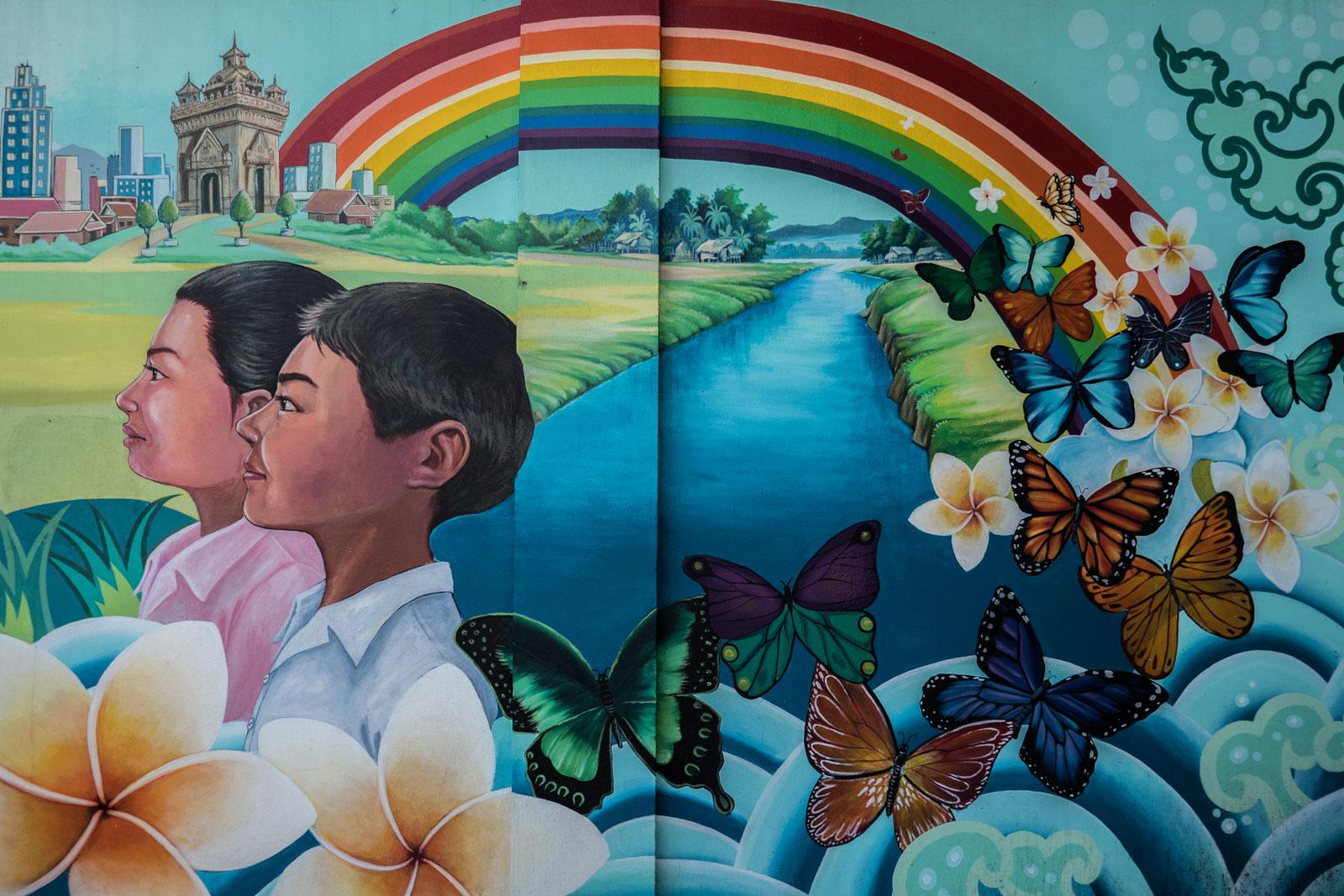 street art in Vientiane Laos