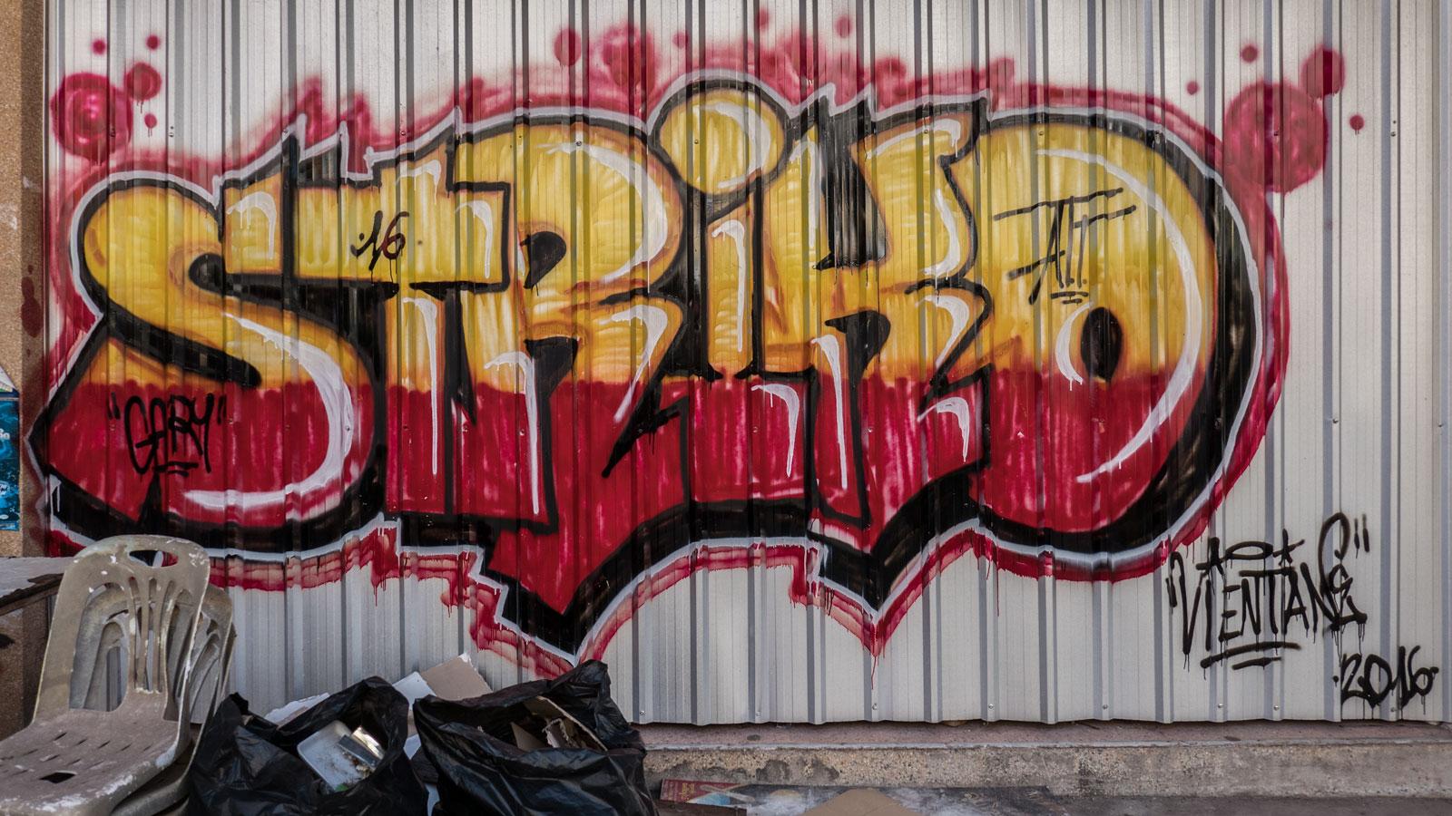graffiti in Vientiane Laos