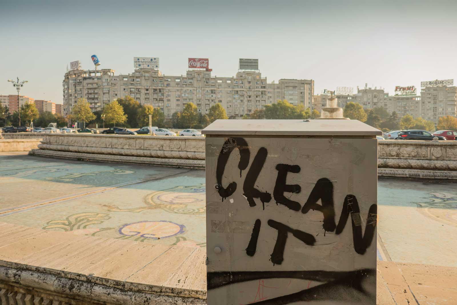 """Clean It"" Bucharest Romania"