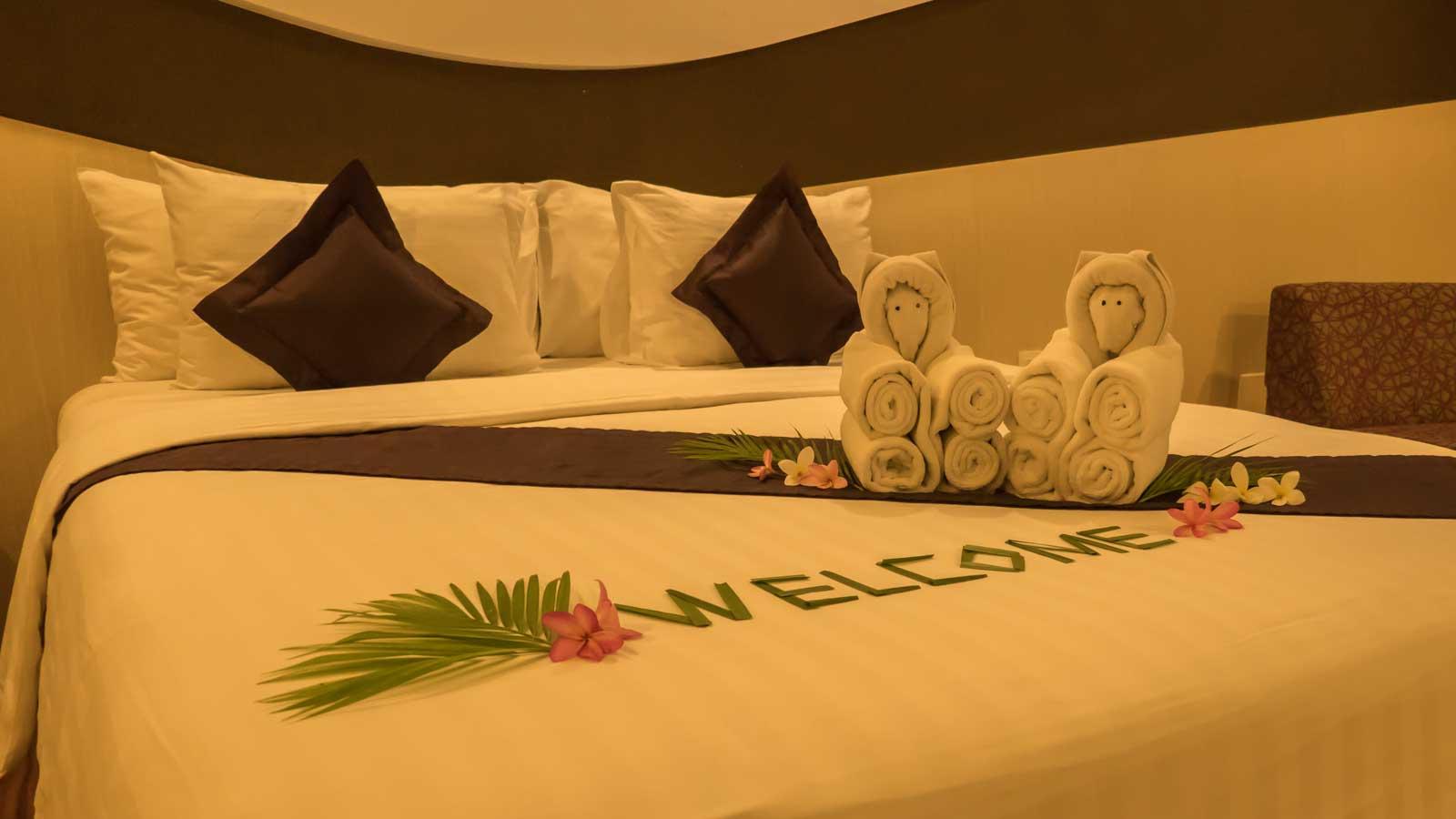 bed at Aston Cirebon Hotel & Convention Center