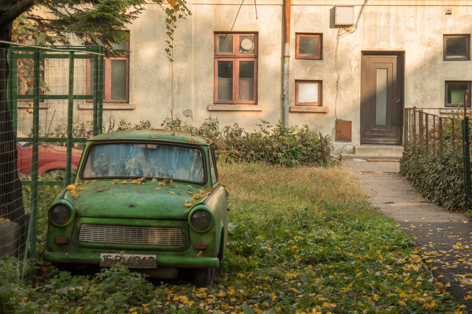 old Travant car in Bucharest Romania
