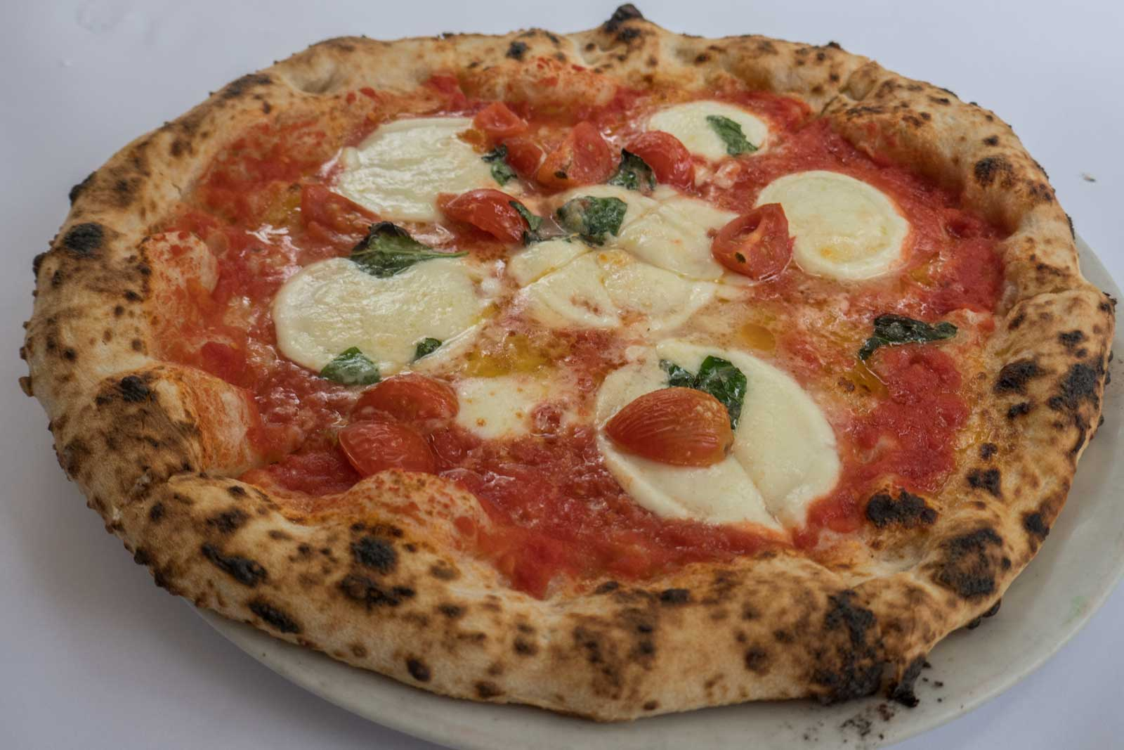 Bufalina pizza at Lucio Pizzeria Darlinghurst Sydney Australia