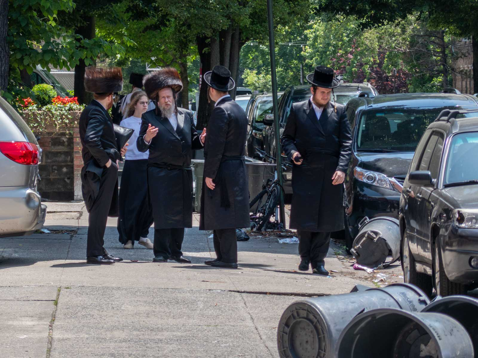 Orthodox Jews in Borough Park Brooklyn