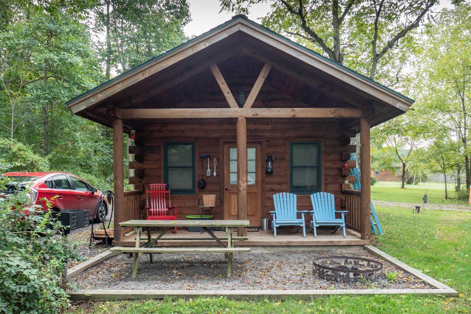 Aspen Cabin at Finger Lakes Mill Creek Cabins in Lodi New York