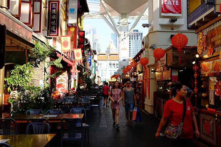 Chinatown Food Street Market in Singapore