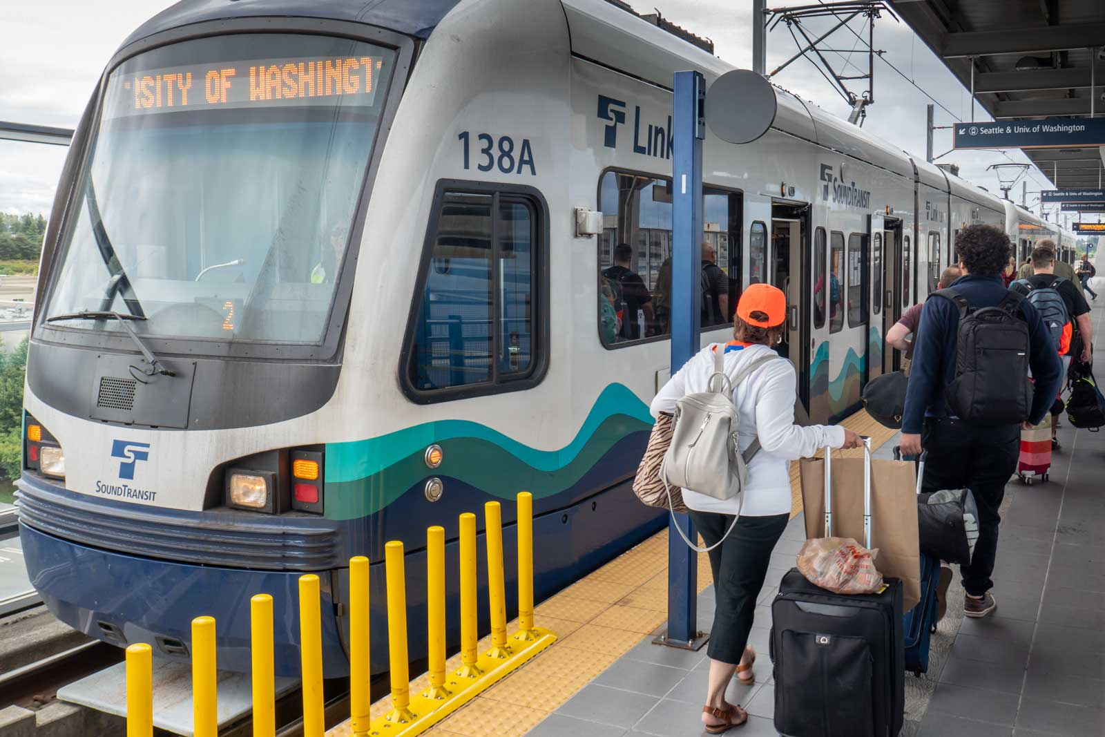 Sound Transit Light Rail at Seattle Tacoma International Airport