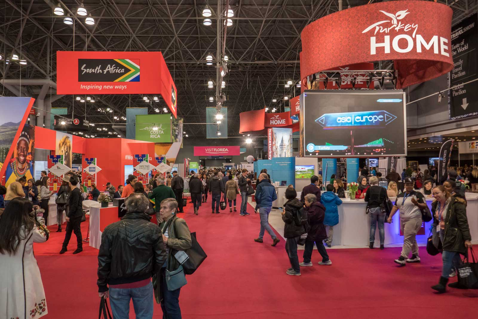 2018 New York Times Travel Show floor