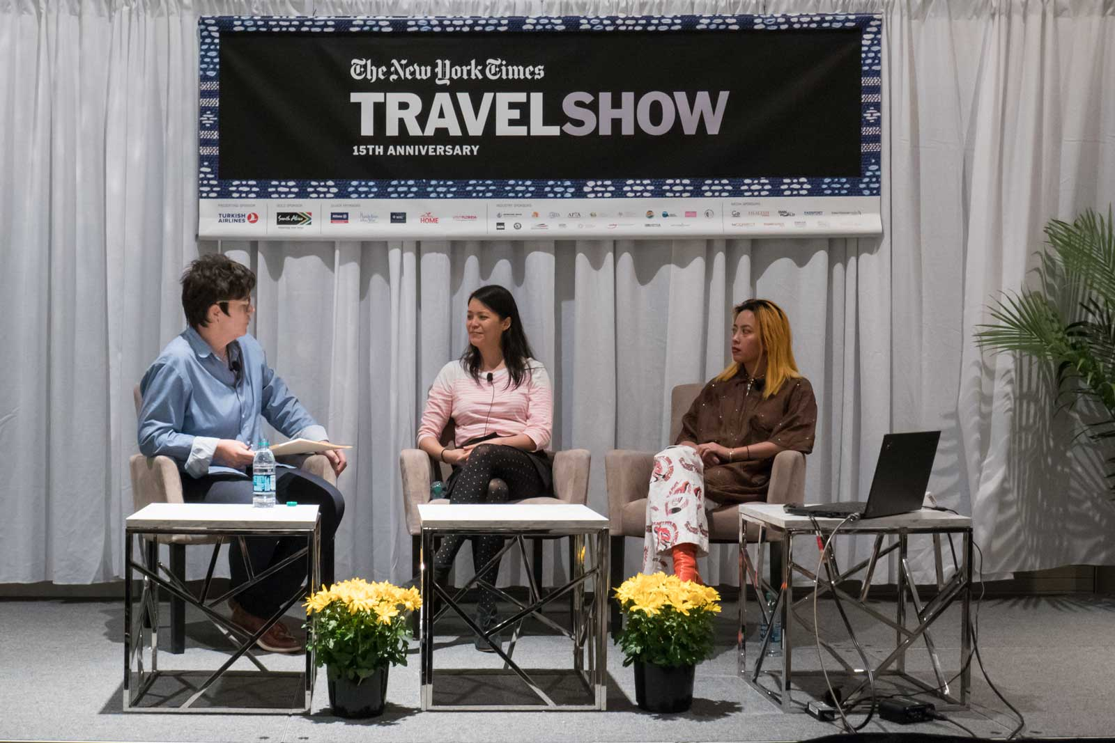 Angela Dimayuga Claudia Wu 2018 New York Times Travel Show