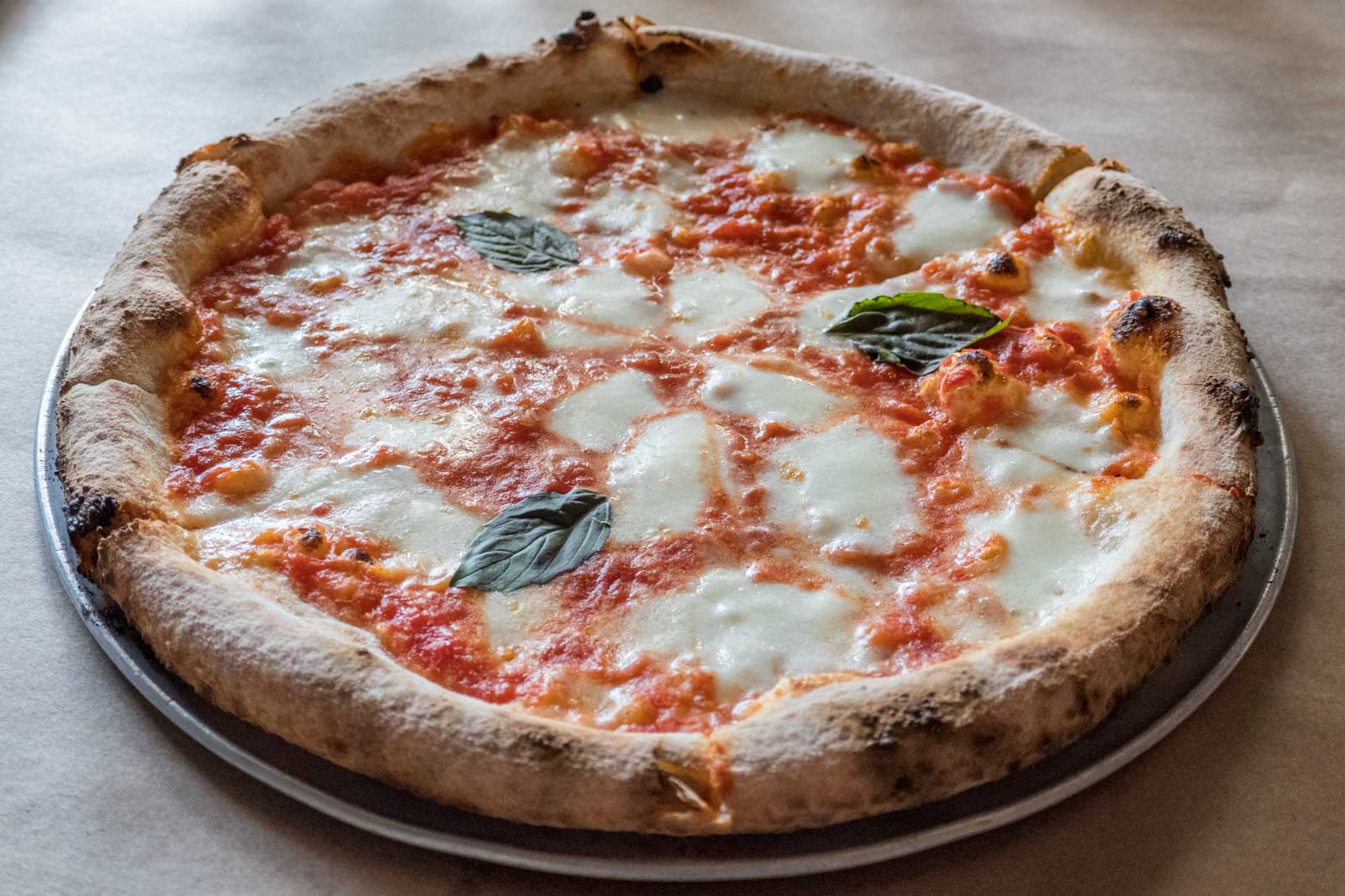 margherita pizza at Union Pizza Works Bushwick Brooklyn