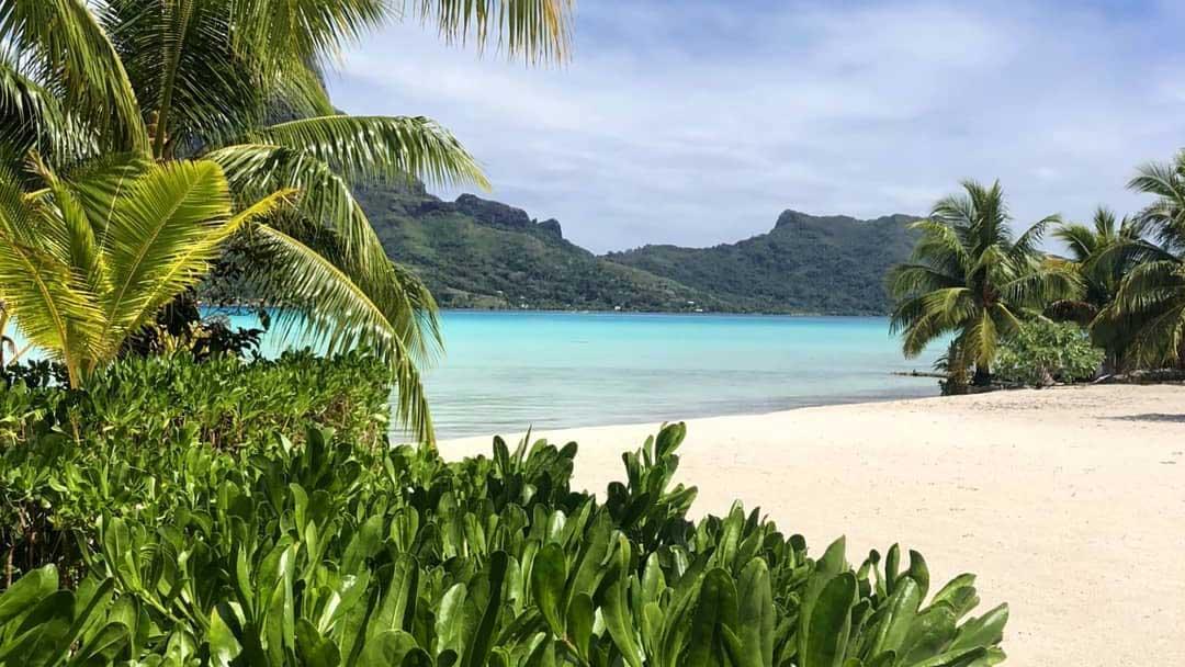 beach in French Polynesia