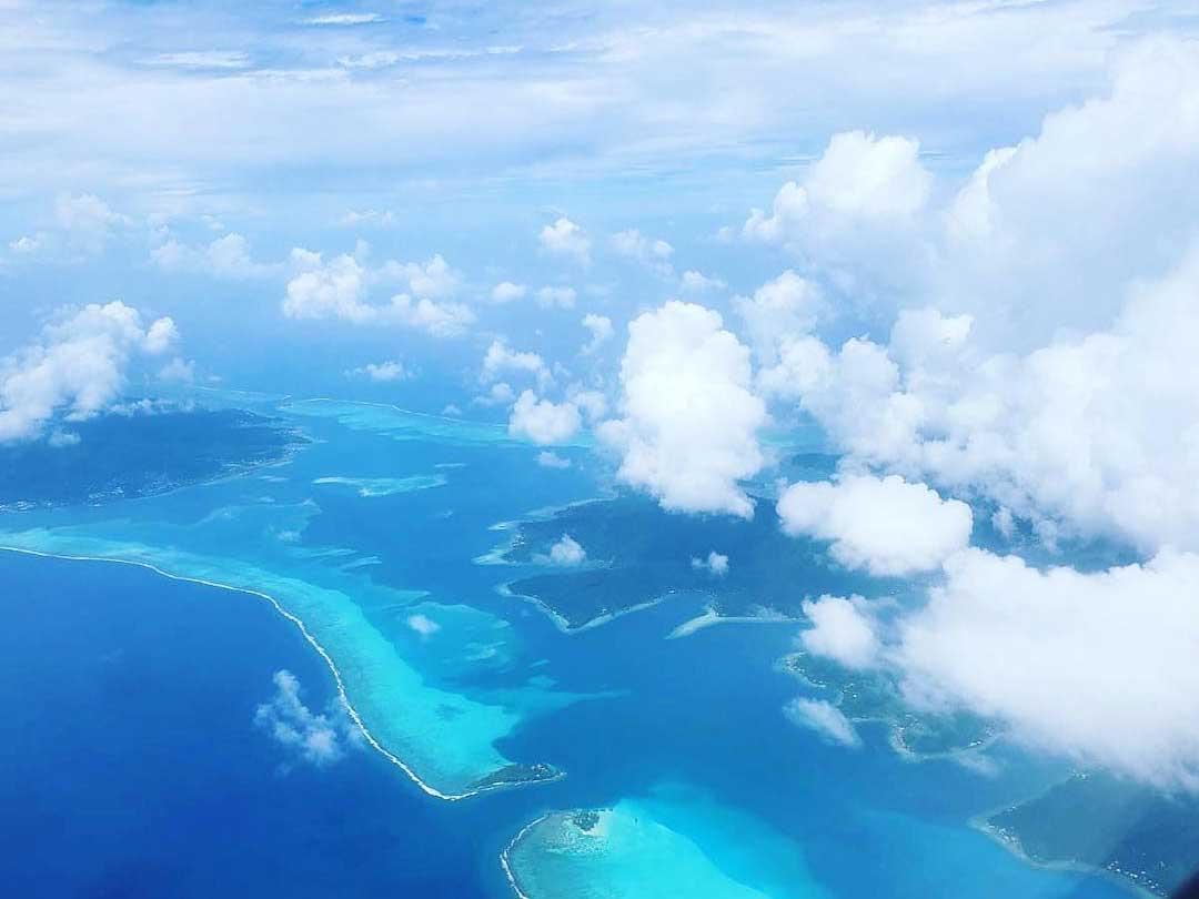 sky above French Polynesia