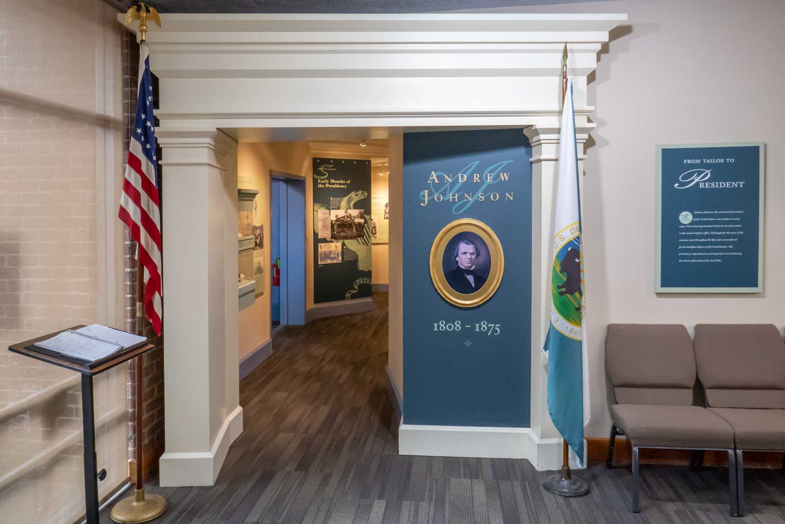 President Andrew Johnson Museum and Library Greeneville Tennessee