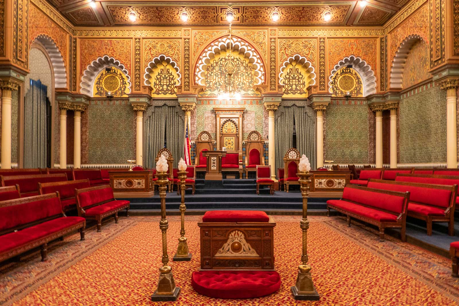 Egyptian Hall at Masonic Library and Museum Philadelphia