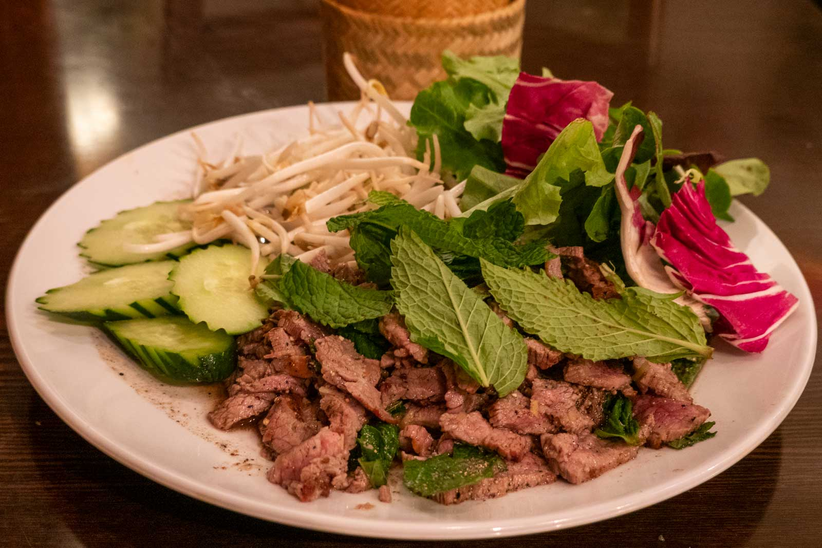 beef laab at Vientiane Cafe Philadelphia