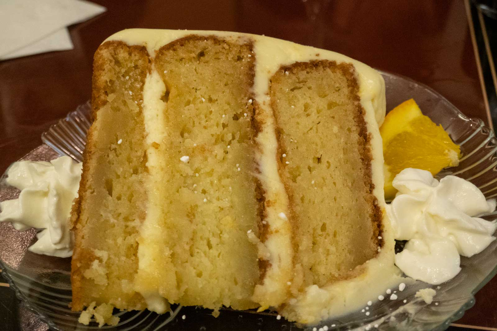Orange Dream Cake at Spagna's Italian Restaurant Marietta Ohio