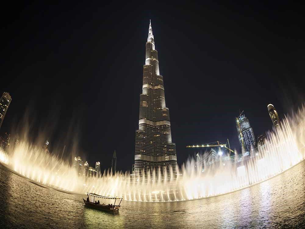 Burj Khalifa and Dubai Fountains