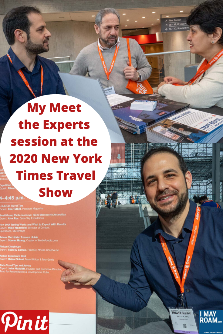 Pinterest My Meet the Experts session at the 2020 New York Times Travel Show