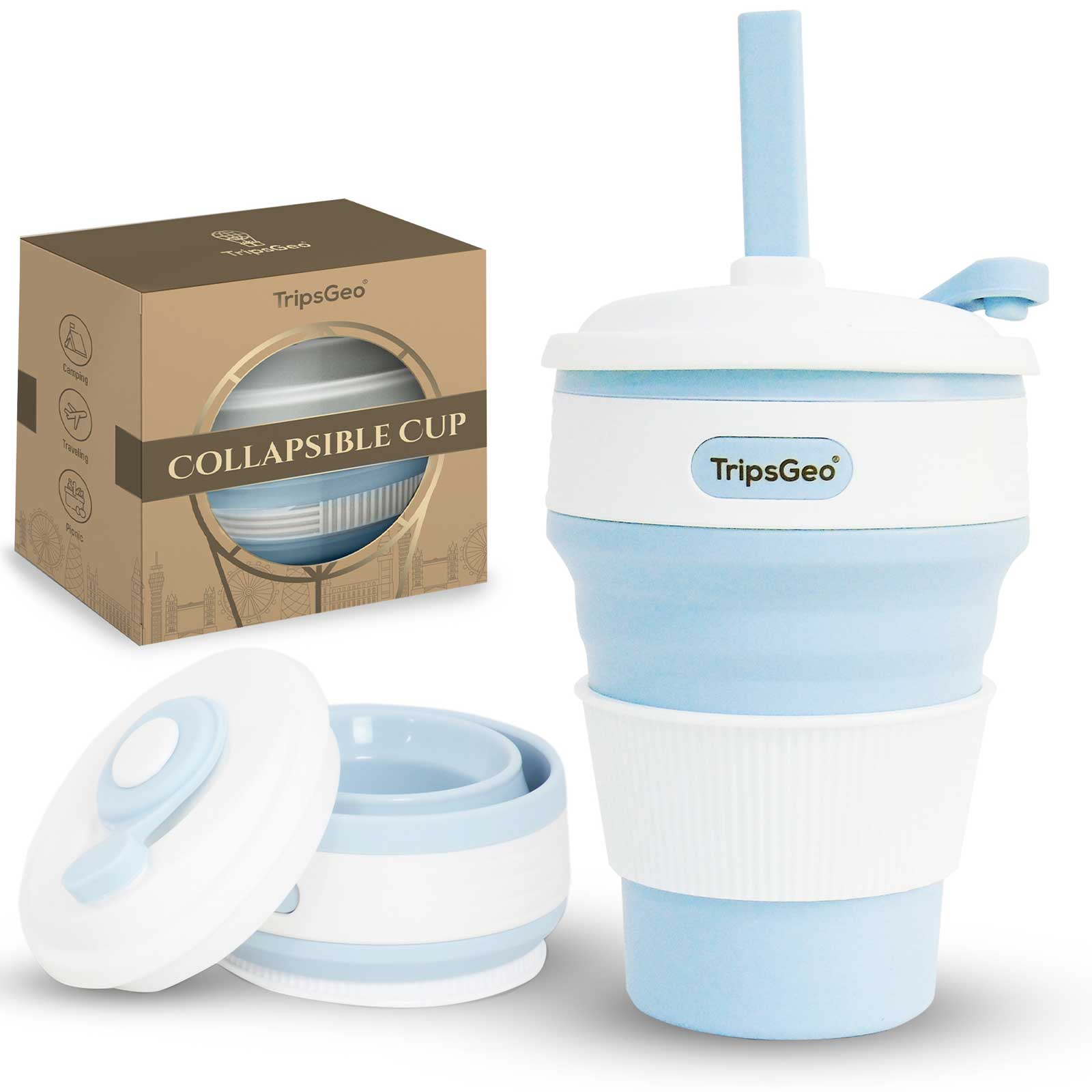 TripsGeo collapsible coffee cup holiday shopping