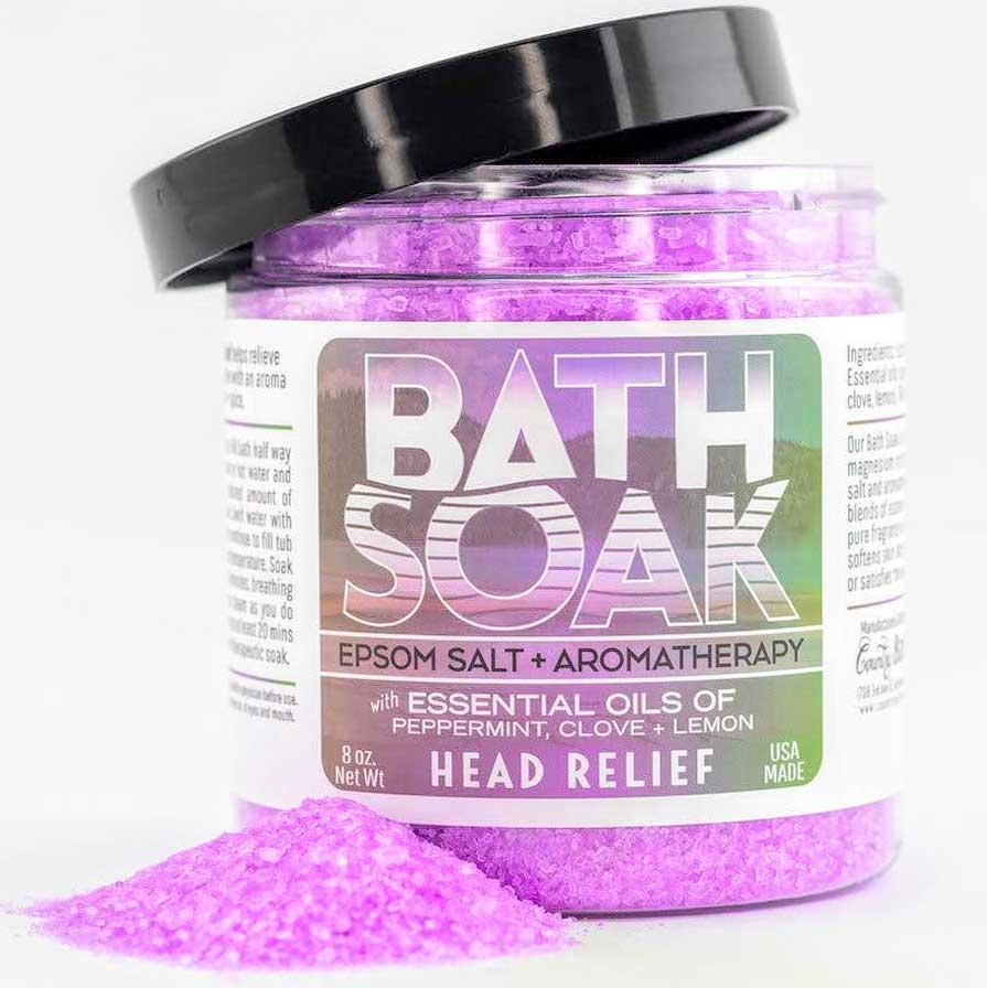 head relief bath soak