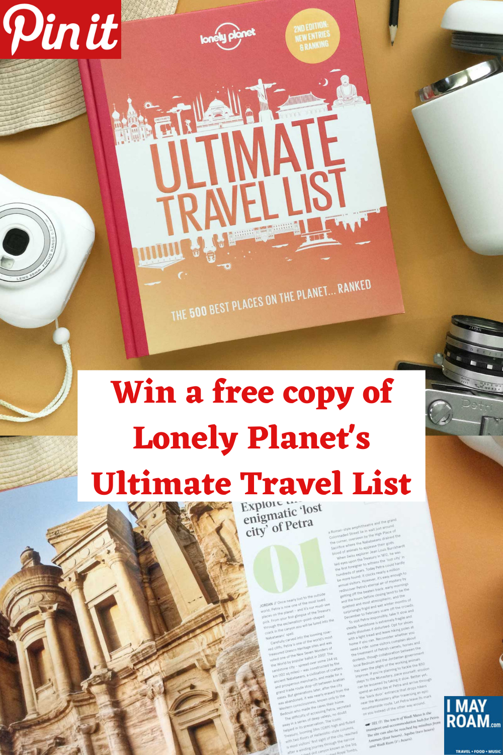 Pinterest Win a free copy of Lonely Planet's Ultimate Travel List