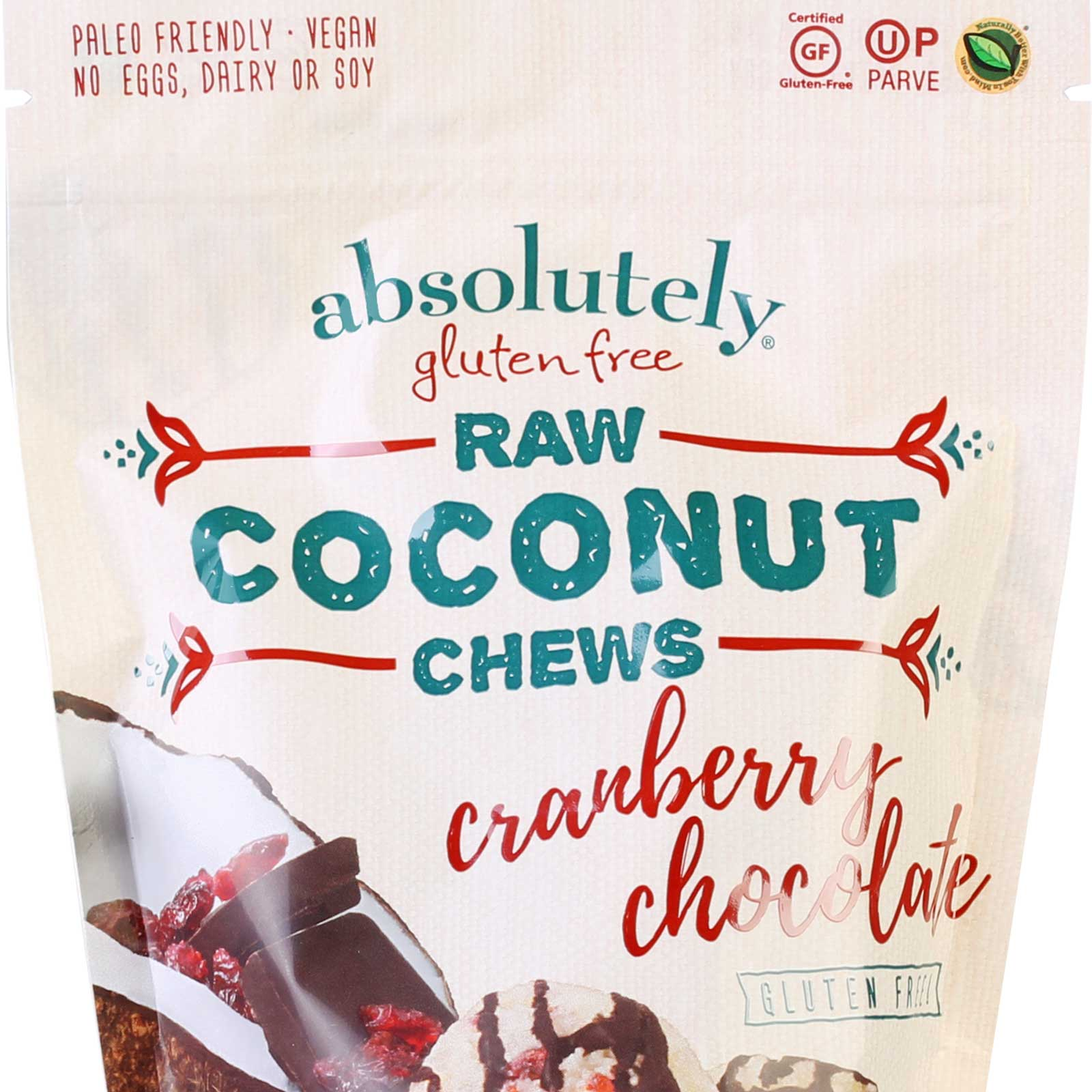 raw coconut chews cranberry