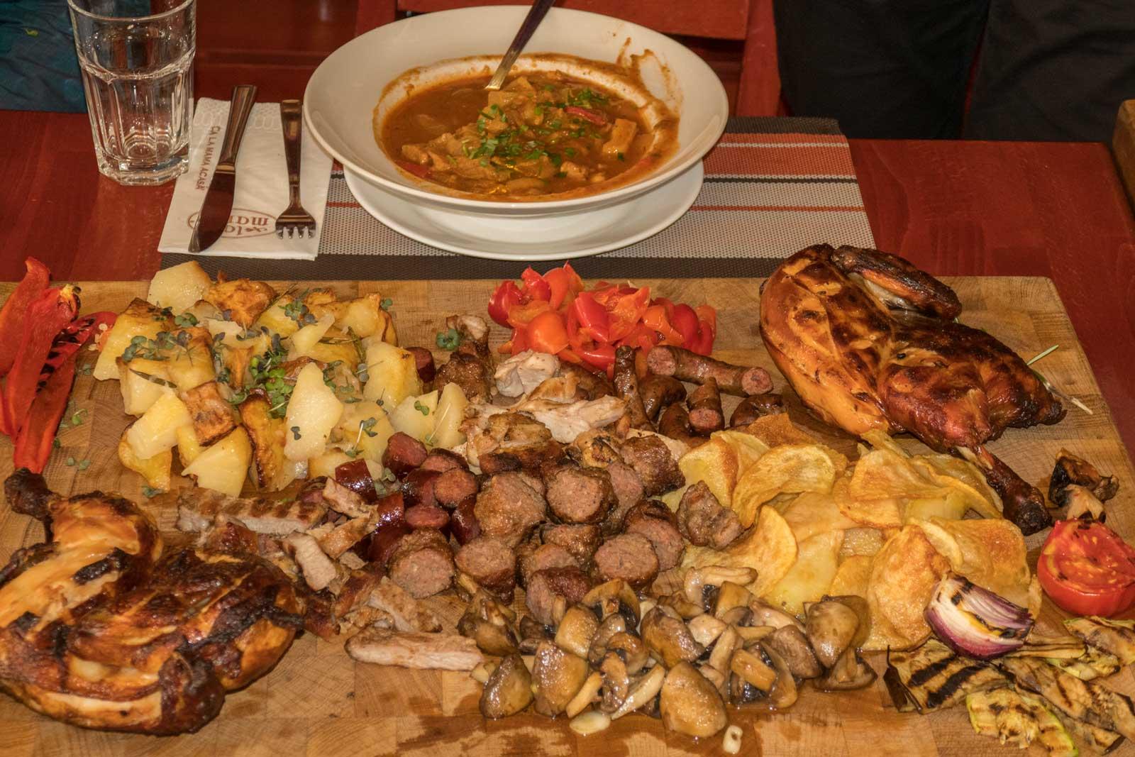 Romanian food at La Mama