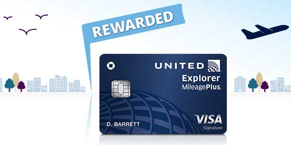 travel credit cards United Chase Explorer Visa