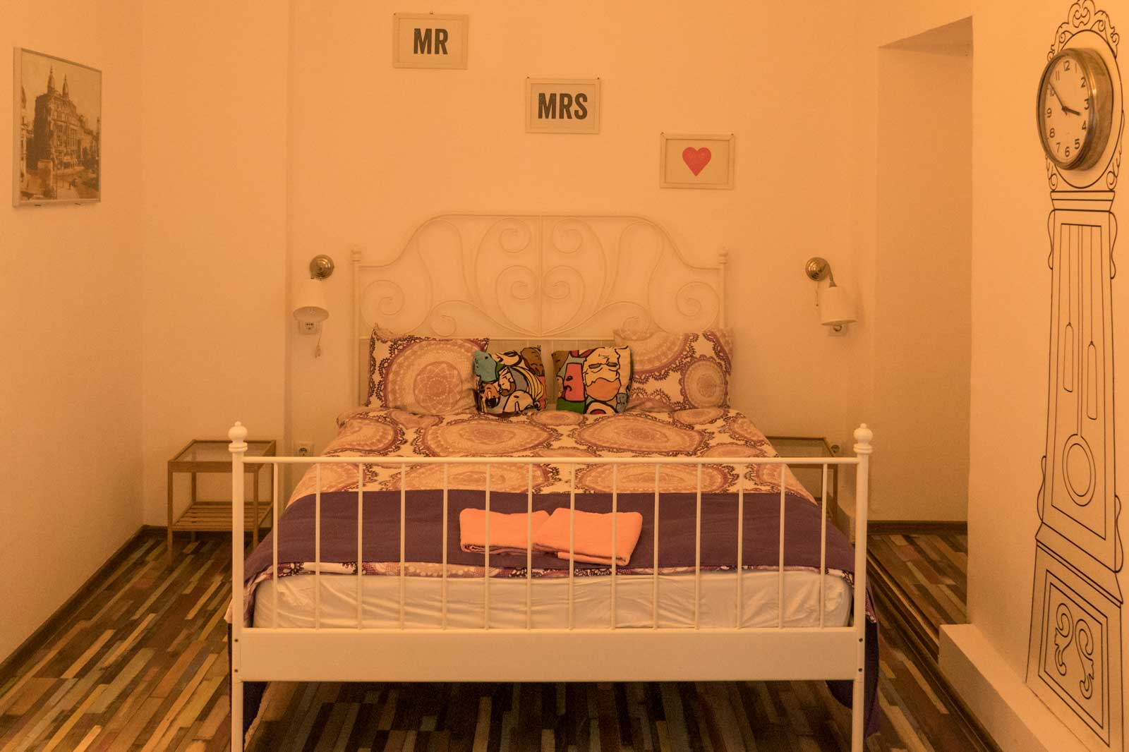 bed in Little Bucharest