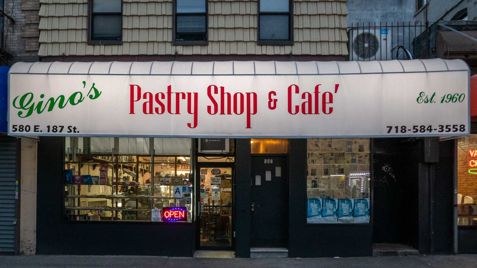 Gino's Pastry Shop Bronx Little Italy