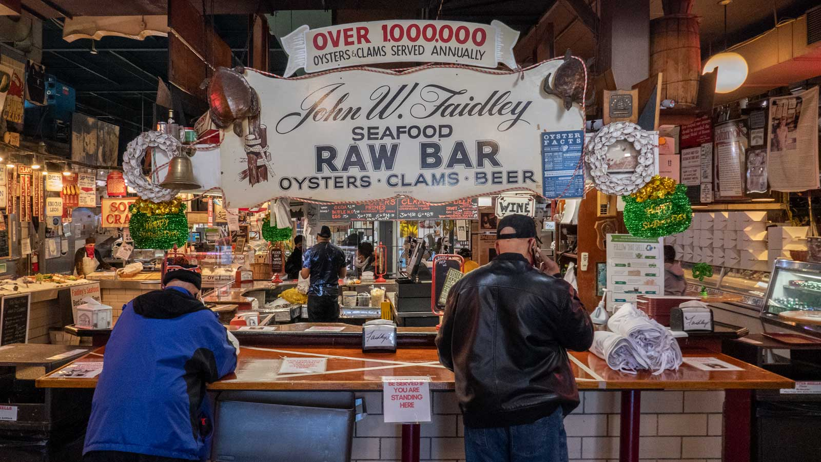 Faidley seafood raw bar Baltimore