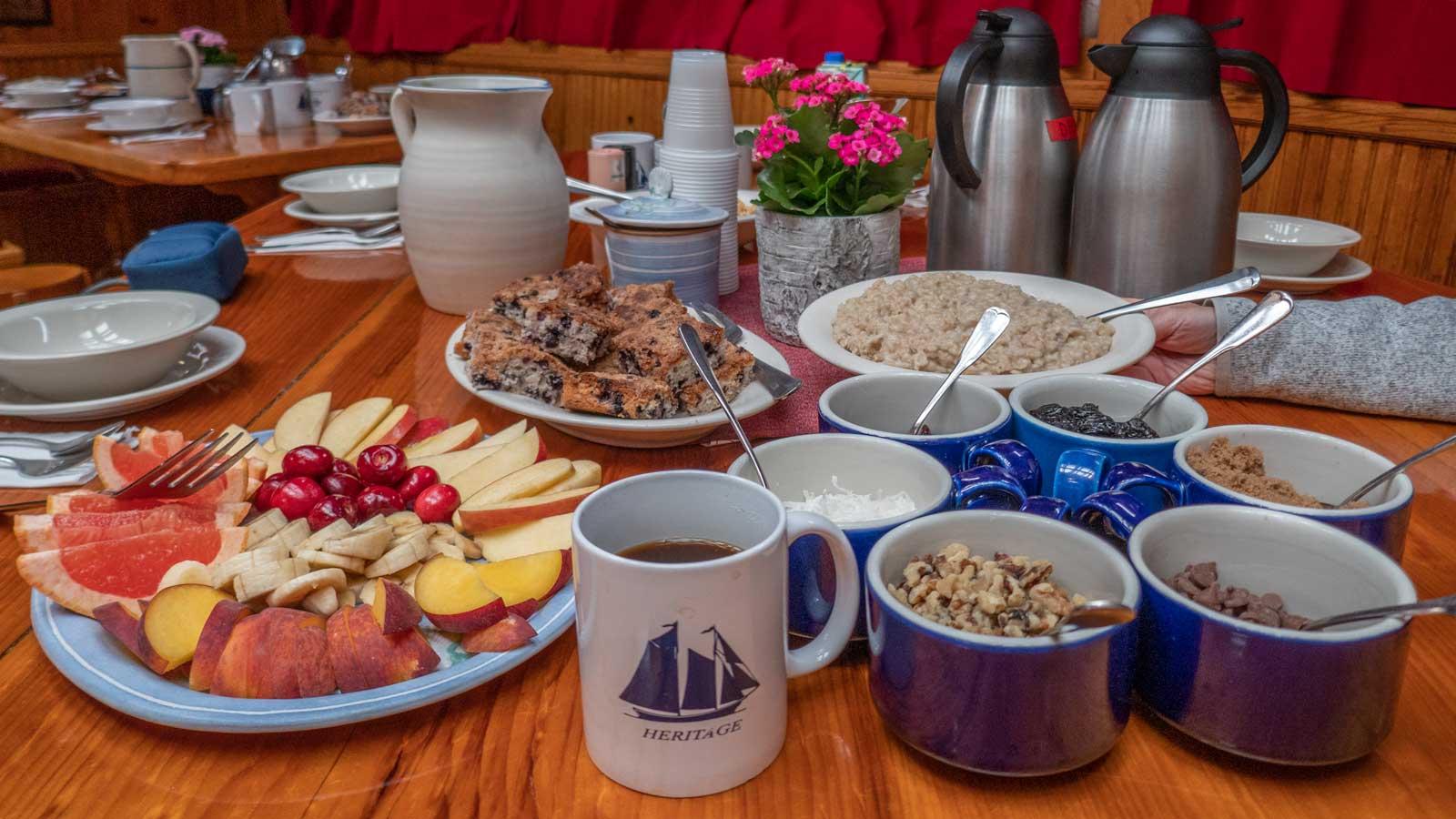 breakfast buffet spread Schooner Heritage
