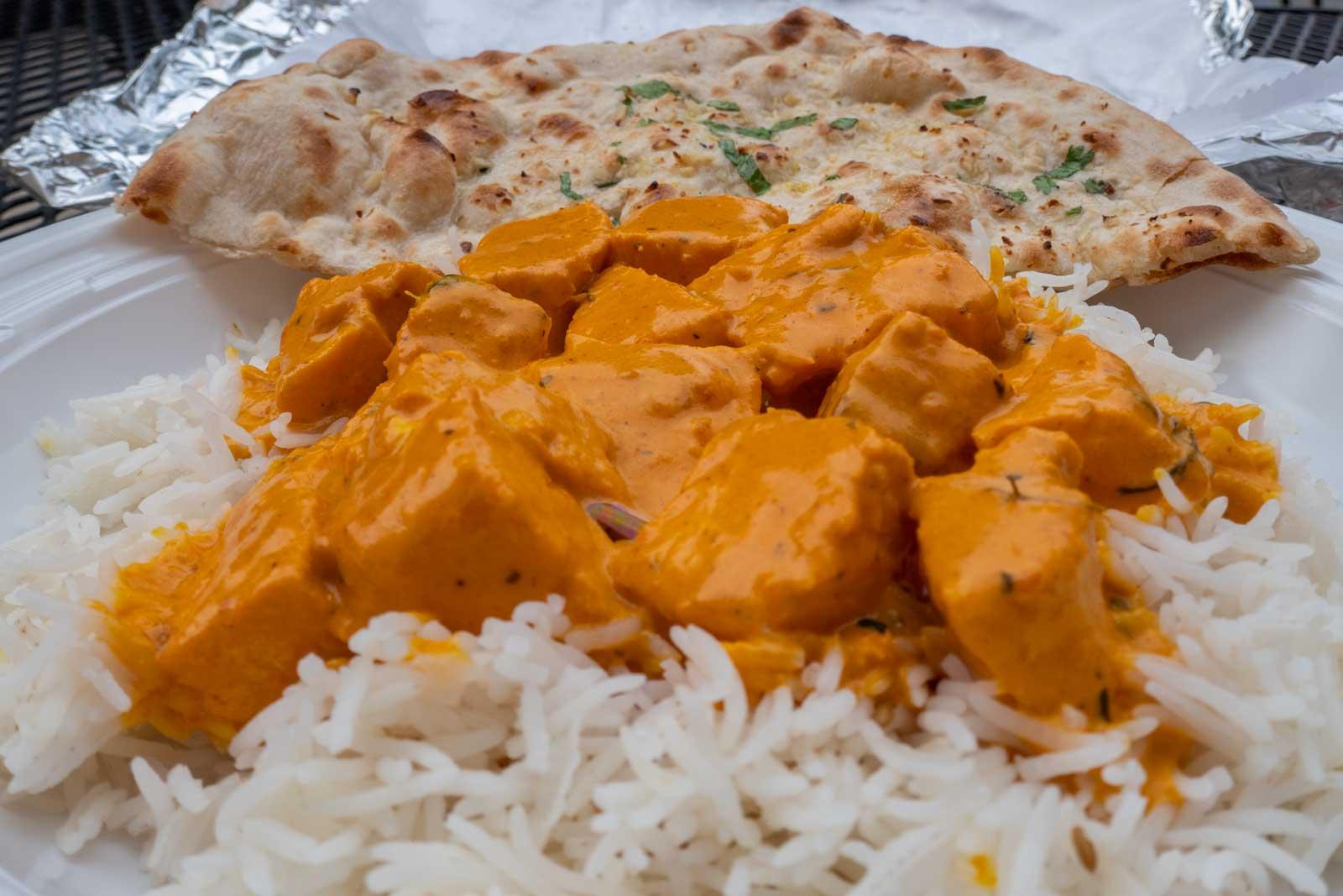 salmon tikka masala from Tandav Indian Cuisine Baltimore